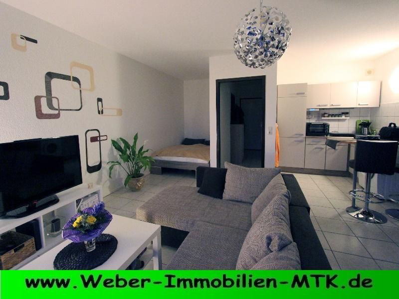 Immobilienmakler in Kriftel KERN-saniert in 2008 .... NEU-wertige 1 ZKB, komplett gefliest, offene EBK, Loggia, Stellplatz